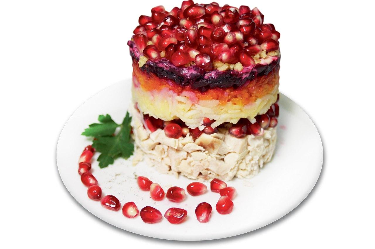 Гранатовый браслет салат рецепт и